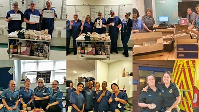 NHS staff have sent thank you pictures to Kelly