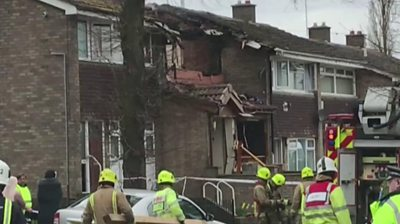Footage shows an explosion in Dewsbury