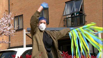 NHS staff dancing in quarantine