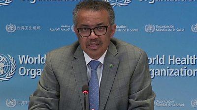 World Health Organisation head Tedros Adhanom Ghebreyesus