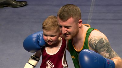 Dáithí Mac Gabhann with Paddy Barnes