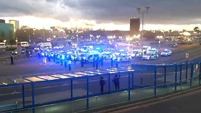 Blues lights tribute from emergency services