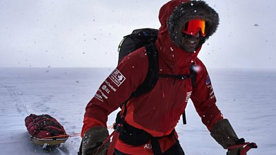 Adventurer Richard Parks describes how he broke two world records in the South Pole.