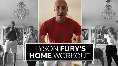 Tyson Fury's home workout