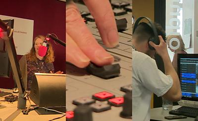 Staff at BBC Sussex Radio station