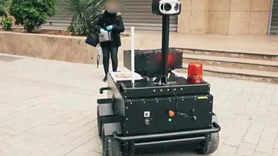A robotic surveillance car