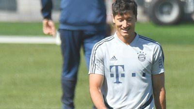 Robert Lewandowski in training