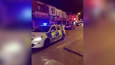 Derbyshire Police car