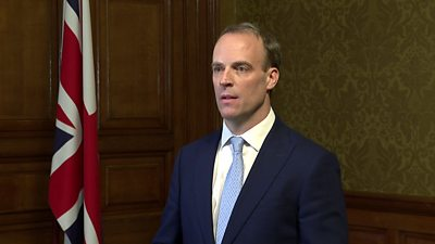 "Downing Street said Dominic Raab is to deputise ""where necessary"" as the prime minister is moved to intensive care."