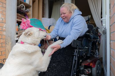 Paula has complex medical needs, she relies on her assistance dog, carers and a nurse for help. The coronavirus has already affected the care she receives.