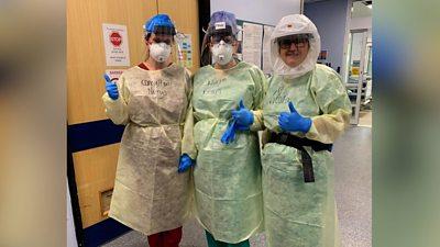 Staff at the Royal Glamorgan hospital