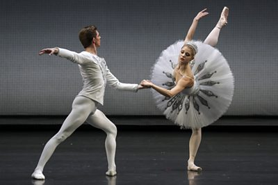 Ballet dancers at the Mikhailovsky Theatre