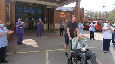 Albert leaving hospital