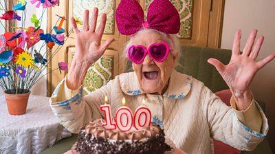 granny-celebrating-100th-birthday