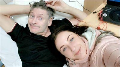 Jon Barry Davies and his daughter Rachel