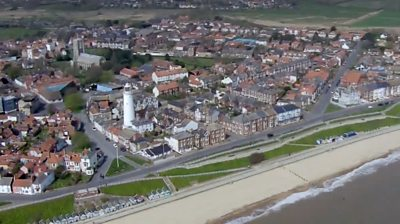 Southwold from the air