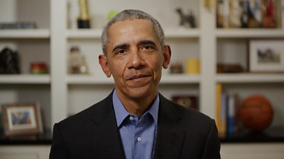Former US President Barack Obama endorses Joe Biden's 2020 presidential bid in a video message.