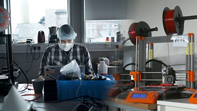 Edinburgh Shield Force, a club of engineers, are making 3D printed face shields for Scottish hospitals.