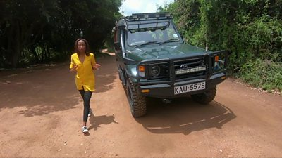 BBC presenter Sharon Machira at Maasai Mara National Reserve in Kenya