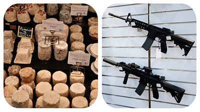 French cheese and American rifles