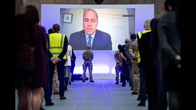 Prince William opening hospital via video link