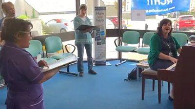 Hospital choristers sing away Covid-19 blues