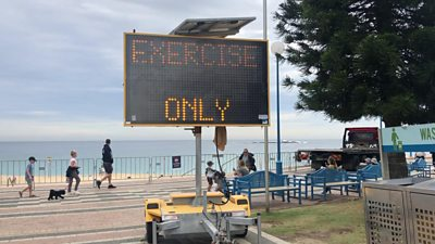Sign at Sydney beach