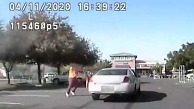 Bodycam footage shows a suspect shooting at officers