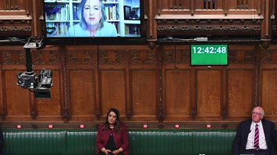 MPs social distancing in the House of Commons