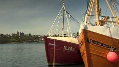 Ardglass with Kings Castle in the background