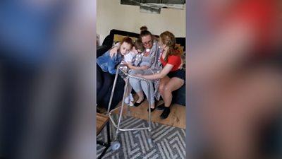 Natasha Jenkins with her children