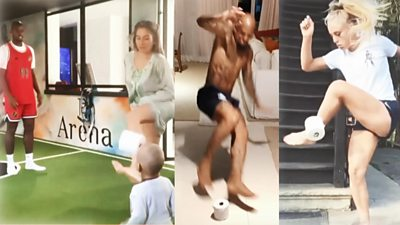 Footballers' stay at home videos
