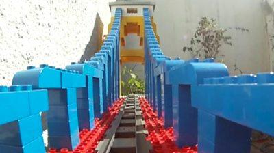 Lego model of Clifton Suspension Bridge