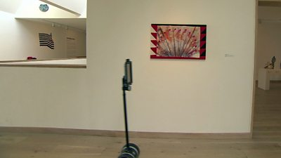 A telepresence robot explores Hastings Contemporary gallery