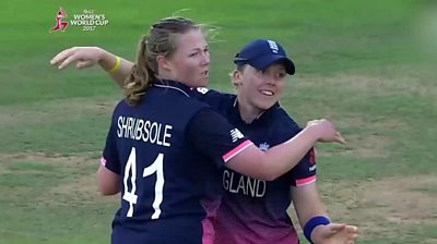 Shrubsole traps Raut LBW for 86