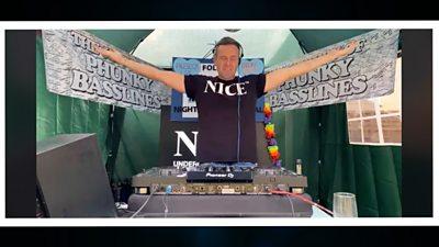 DJ Joe Hunt in his garden