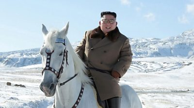 Kim Jong-un on a horse