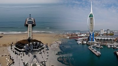 Bournemouth and Portsmouth