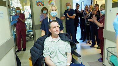 Scott Howell leaves hospital
