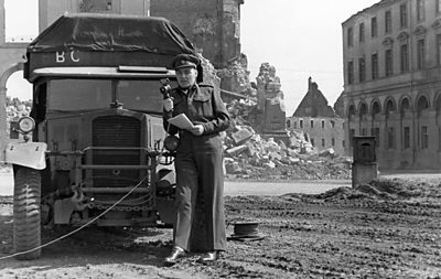 Frank Gillard reports from Kassel in Germany on VE Day, 8 May 1945
