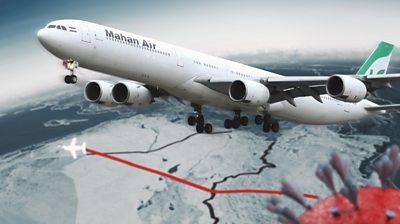 An investigation by BBC News Arabic has found how one Iranian airline contributed to the spread of the virus around the Middle East.