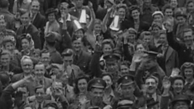 """Eva May Cotter, who turns 100 on Monday, recalls the """"whirlwind"""" of VE Day."""