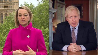 Laura Kuenssberg and Boris Johnson