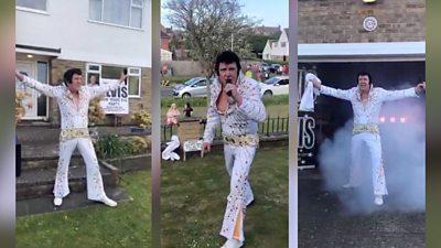 Tony Skingle as Elvis