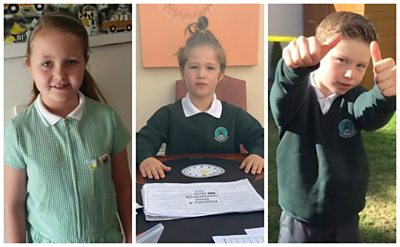 Do you wear your school uniform whilst home schooling? Well these children are having a school uniform day.