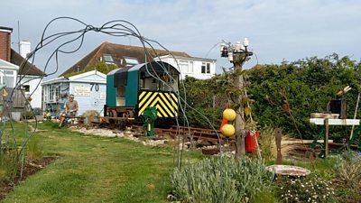 Railway in the garden