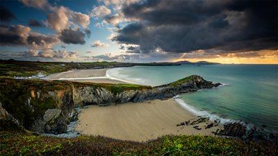 A beautiful beach scene in Pembrokeshire
