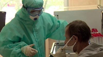 Moscow coronavirus screening centre