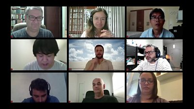 People on a video conference call