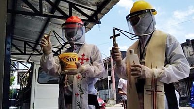 Priests in PPE